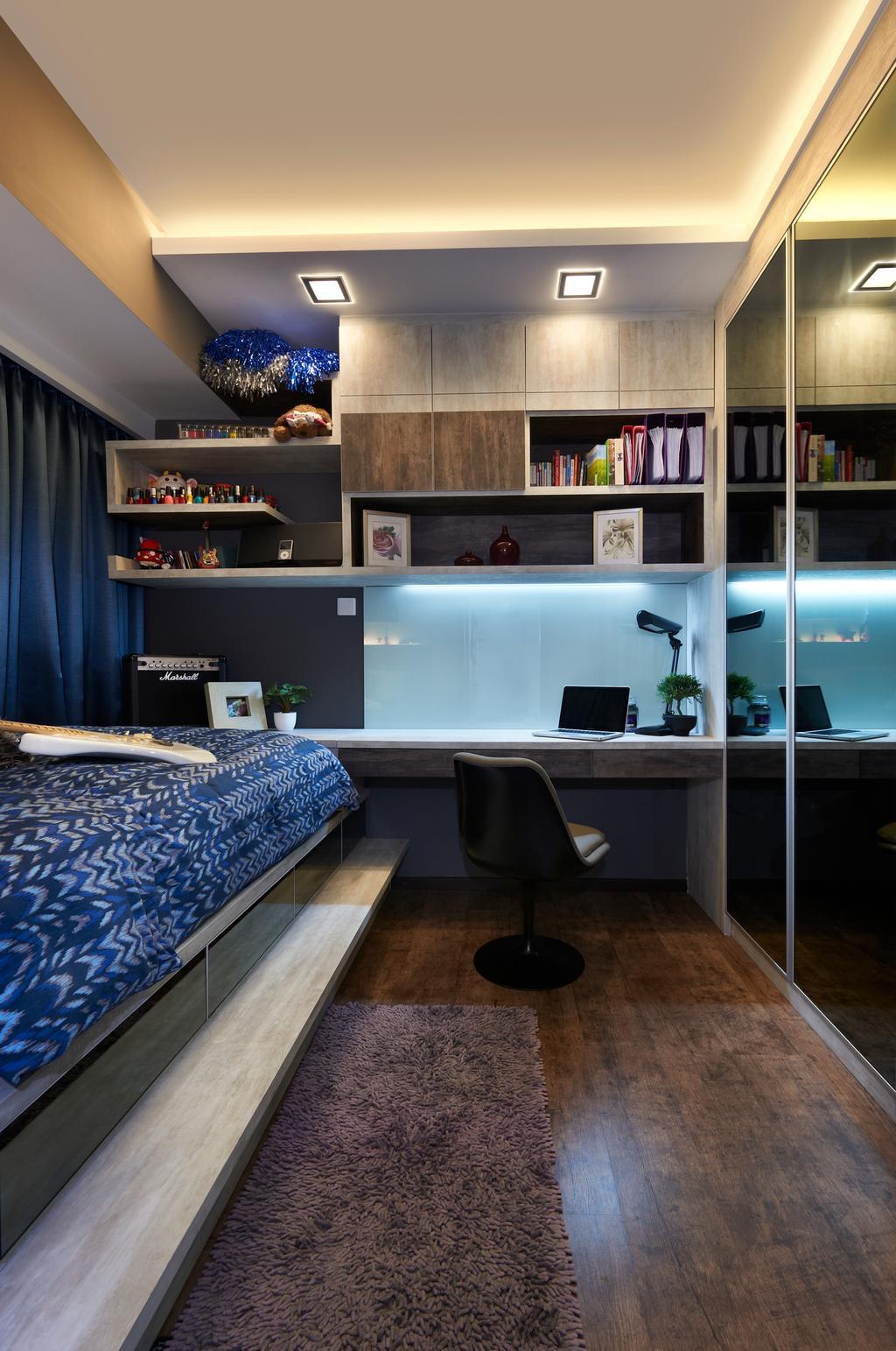 Contemporary, Condo, Study, Double Bay (Block 21C), Interior Designer, AC Vision Design