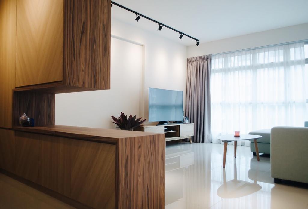 Minimalistic, HDB, Living Room, Compassvale Drive (Block 216C), Interior Designer, Authors • Interior & Styling, Scandinavian, Dining Table, Furniture, Table, Indoors, Interior Design, Reception