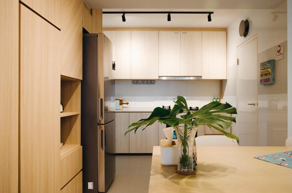 Minimalistic, HDB, Kitchen, Compassvale Drive (Block 216C), Interior Designer, Authors • Interior & Styling, Scandinavian, Flora, Jar, Plant, Potted Plant, Pottery, Vase, Art, Blossom, Flower, Flower Arrangement, Ikebana, Ornament, Indoors, Interior Design