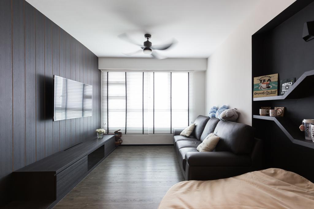 Modern, HDB, Living Room, Clementi Avenue 4 (Block 312C), Interior Designer, D5 Studio Image, Couch, Furniture