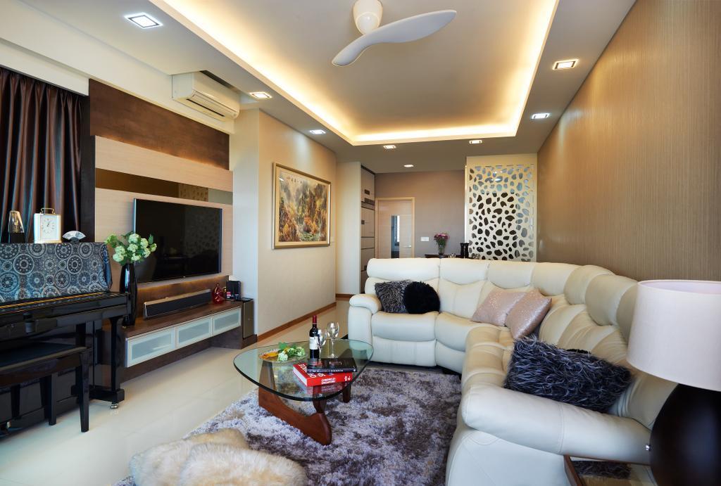 Contemporary, Condo, Living Room, Double Bay (Block 21C), Interior Designer, AC Vision Design