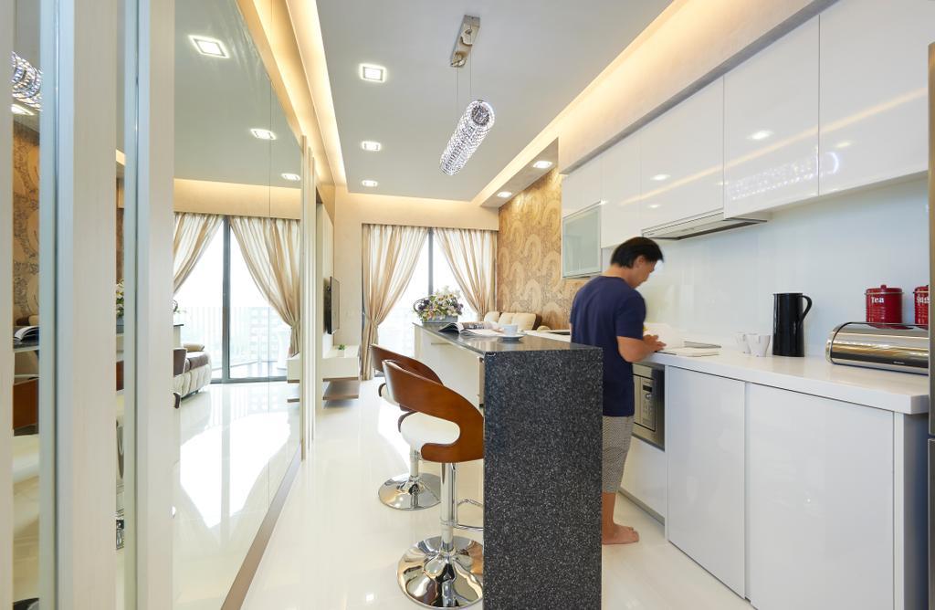 Modern, Condo, Kitchen, Sky Habitat, Interior Designer, AC Vision Design
