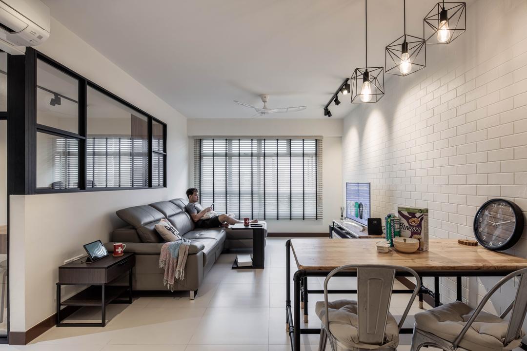 Upper Serangoon Crescent (Block 471B) Living Room Interior Design 1