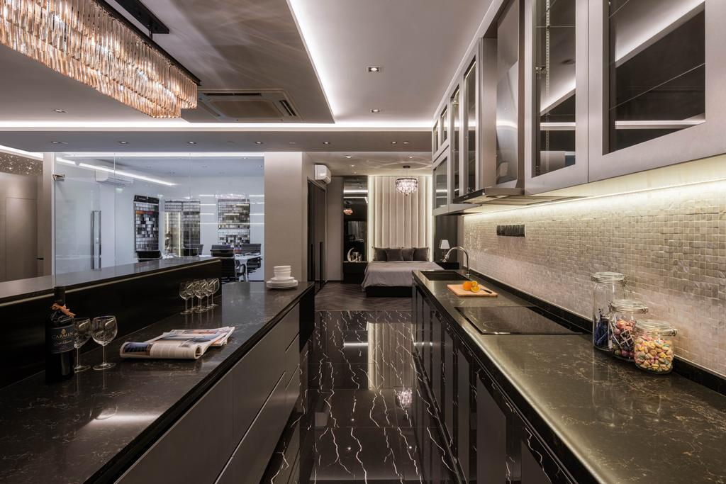 37 Jalan Pemimpin, Commercial, Interior Designer, Zenith Arc, Modern, Kitchen, Corridor