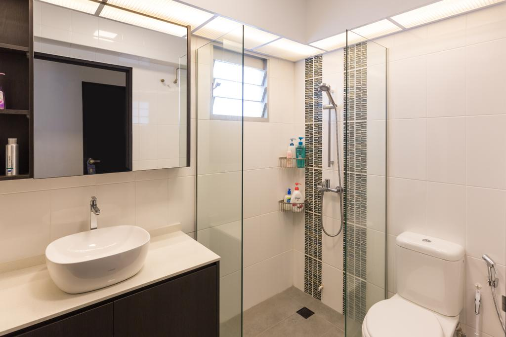 Modern, HDB, Bathroom, Clementi Avenue 4 (Block 312C), Interior Designer, D5 Studio Image, Toilet, Indoors, Interior Design, Room