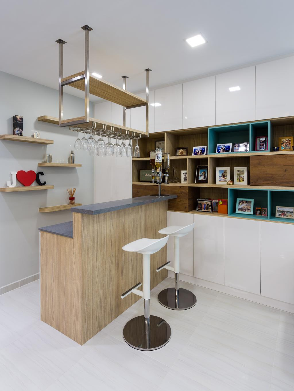 Modern, Condo, Living Room, 8@Mount Sophia, Interior Designer, ID Gallery Interior, Shelf, Indoors, Interior Design, Kitchen, Room