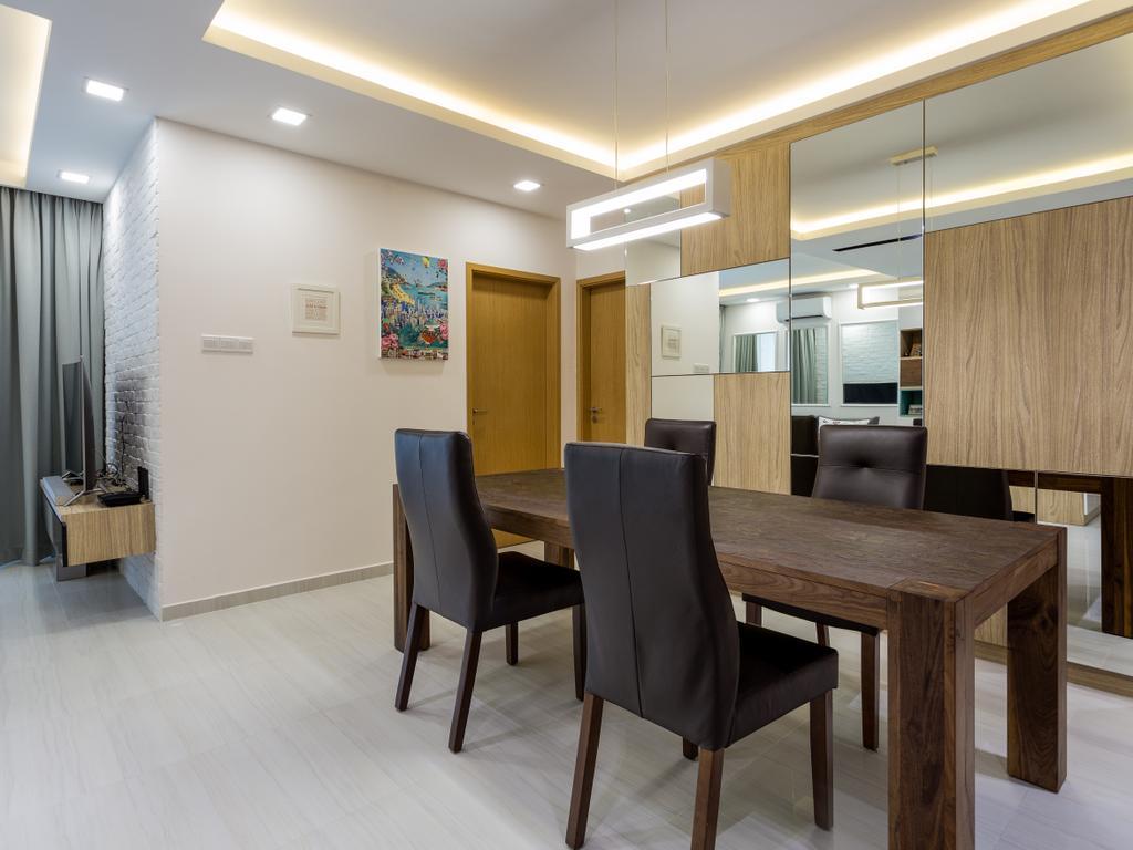 Modern, Condo, 8@Mount Sophia, Interior Designer, ID Gallery Interior, Chair, Furniture, Dining Table, Table, Indoors, Room, Dining Room, Interior Design