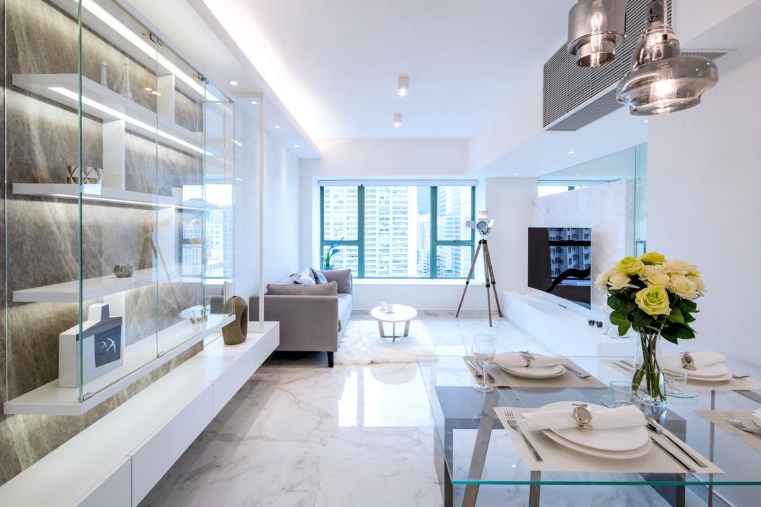 藍灣半島 Living Room Interior Design 9