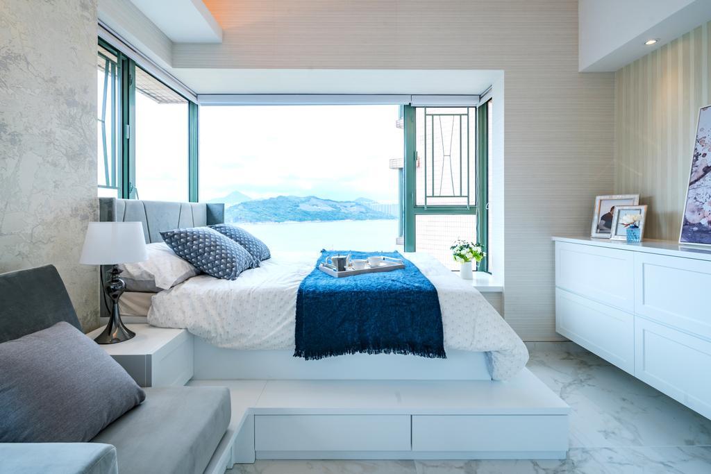 摩登, 私家樓, 睡房, 藍灣半島, 室內設計師, Pixel Interior Design, Couch, Furniture, Home Decor, Linen, Tablecloth, Sideboard