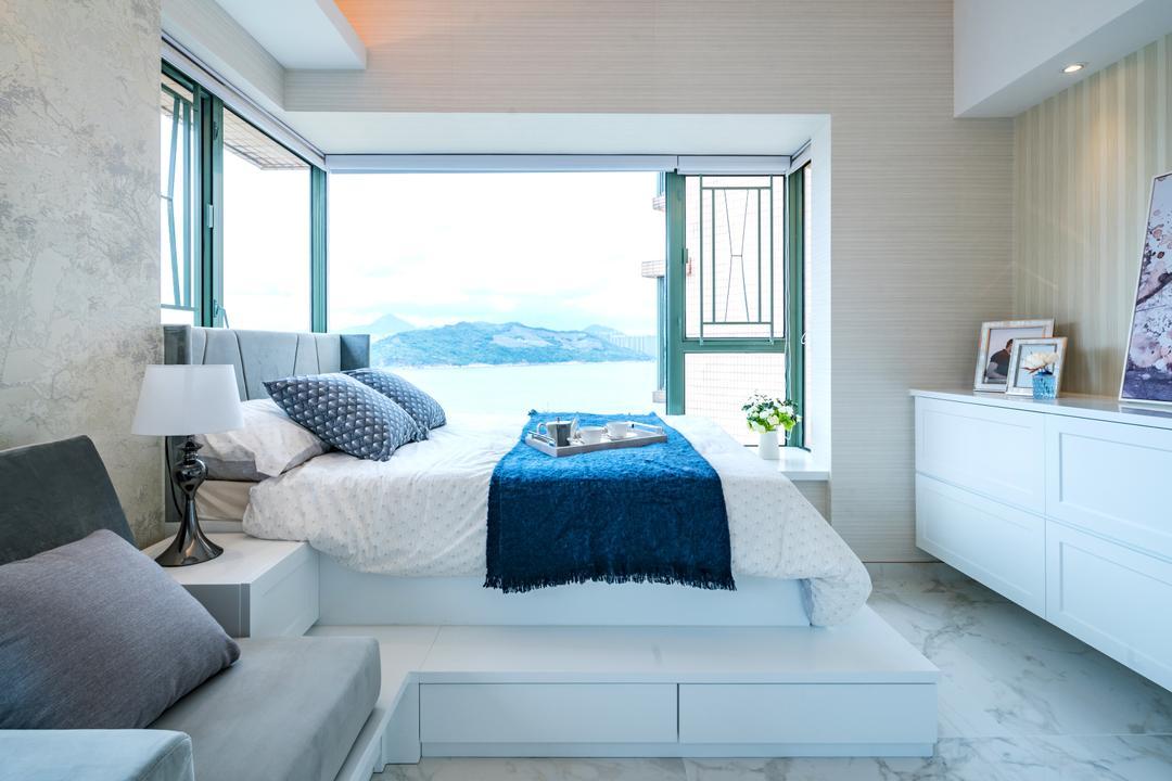 藍灣半島, Pixel Interior Design, 摩登, 睡房, 私家樓, Couch, Furniture, Home Decor, Linen, Tablecloth, Sideboard