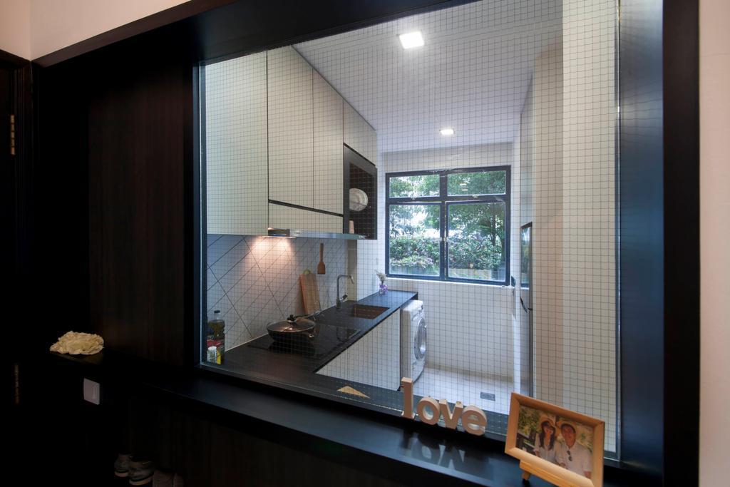 Contemporary, Condo, Kitchen, Evelyn Road, Interior Designer, Habit, Mesh, Hack, Cabinet, Washing Machine, Window, Bathroom, Indoors, Interior Design, Room