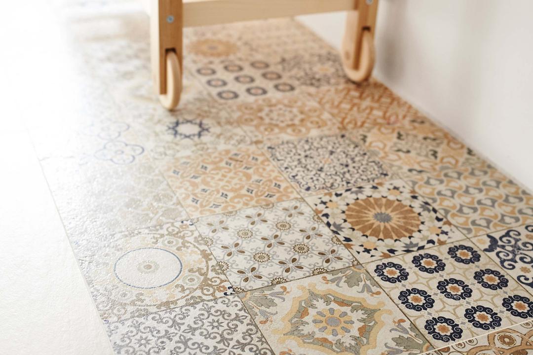 Kim Tian Place, Dan's Workshop, Scandinavian, Kitchen, HDB, Tiles, Noya Tiles, Pebble, Lace