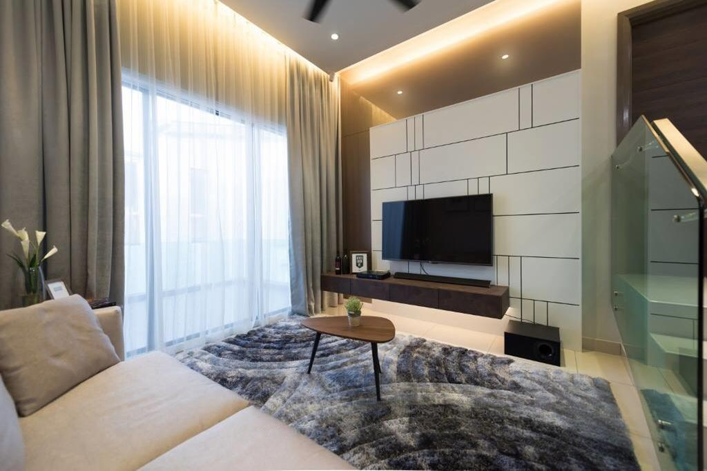 Landed, Bedroom, Setia Damai, Setia Alam, Selangor, Interior Designer, A Moxie Associates Sdn Bhd, Entertainment Room, Movie Room, Spare Room, Indoors, Room, Home Decor, Linen, Couch, Furniture
