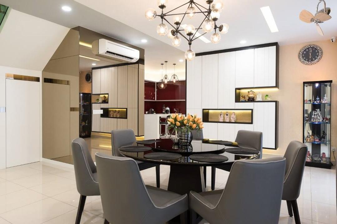 Setia Damai, Setia Alam, Selangor, A Moxie Associates Sdn Bhd, Landed, Chair, Furniture, Dining Room, Indoors, Interior Design, Room, Couch, Clothing, Pants, Tights