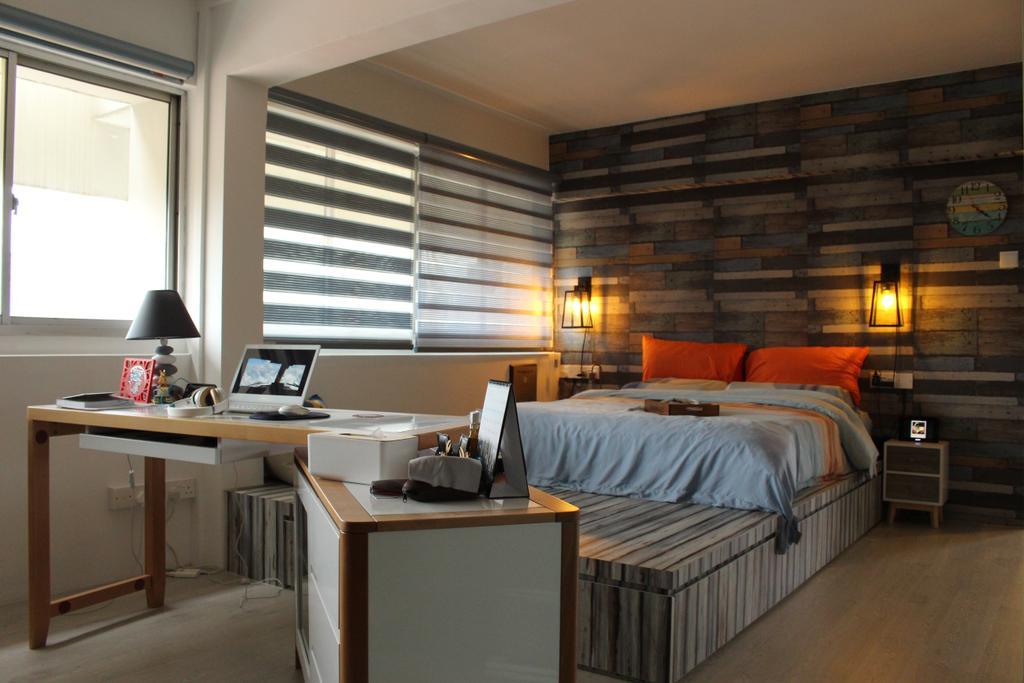 Scandinavian, HDB, Bedroom, Mcnair Road (Block 111), Interior Designer, Ingenious Design Solutions, Sink, Bed, Furniture, Indoors, Room