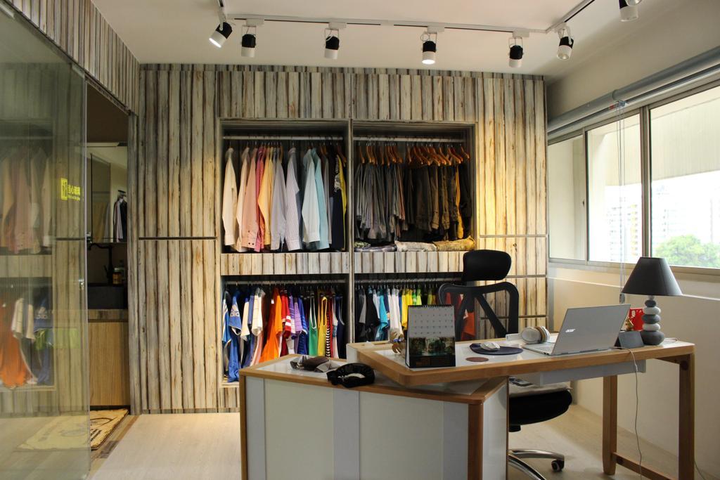 Scandinavian, HDB, Bedroom, Mcnair Road (Block 111), Interior Designer, Ingenious Design Solutions, Desk, Furniture, Table, Flora, Jar, Plant, Potted Plant, Pottery, Vase