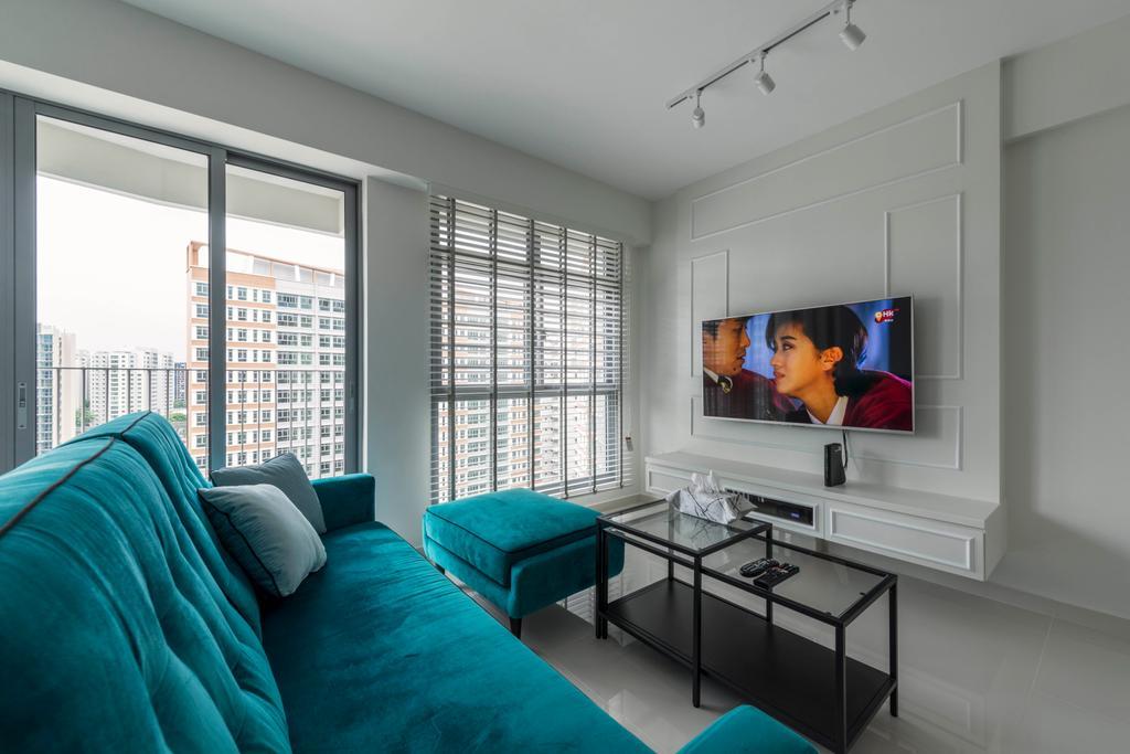 Modern, HDB, Living Room, Edgedale Plains (Block 682A), Interior Designer, ID Gallery Interior, Vintage, Human, People, Person, Sink, Indoors, Room