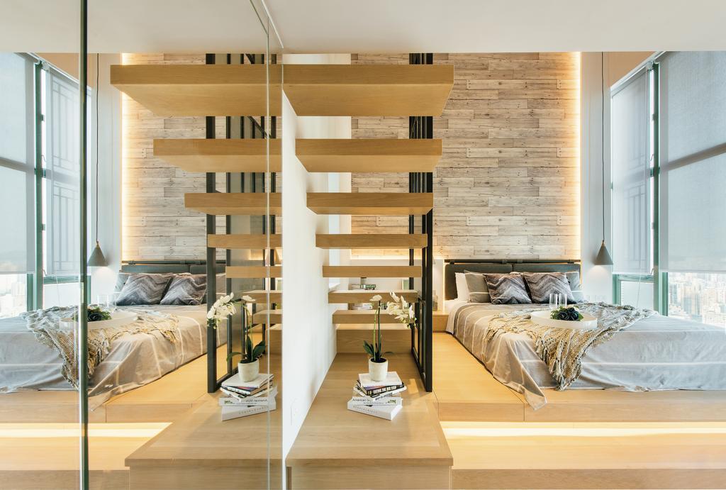 摩登, 私家樓, 九龍西, 室內設計師, 畫斯室內設計, 工業, Bed, Furniture, Indoors, Interior Design