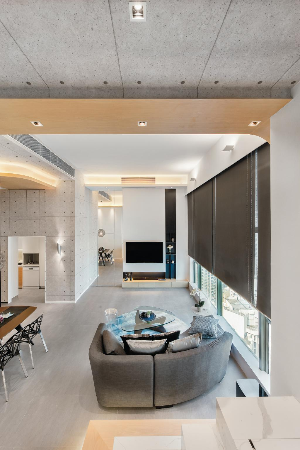 摩登, 私家樓, 九龍西, 室內設計師, 畫斯室內設計, 工業, Indoors, Interior Design, Electronics, Entertainment Center