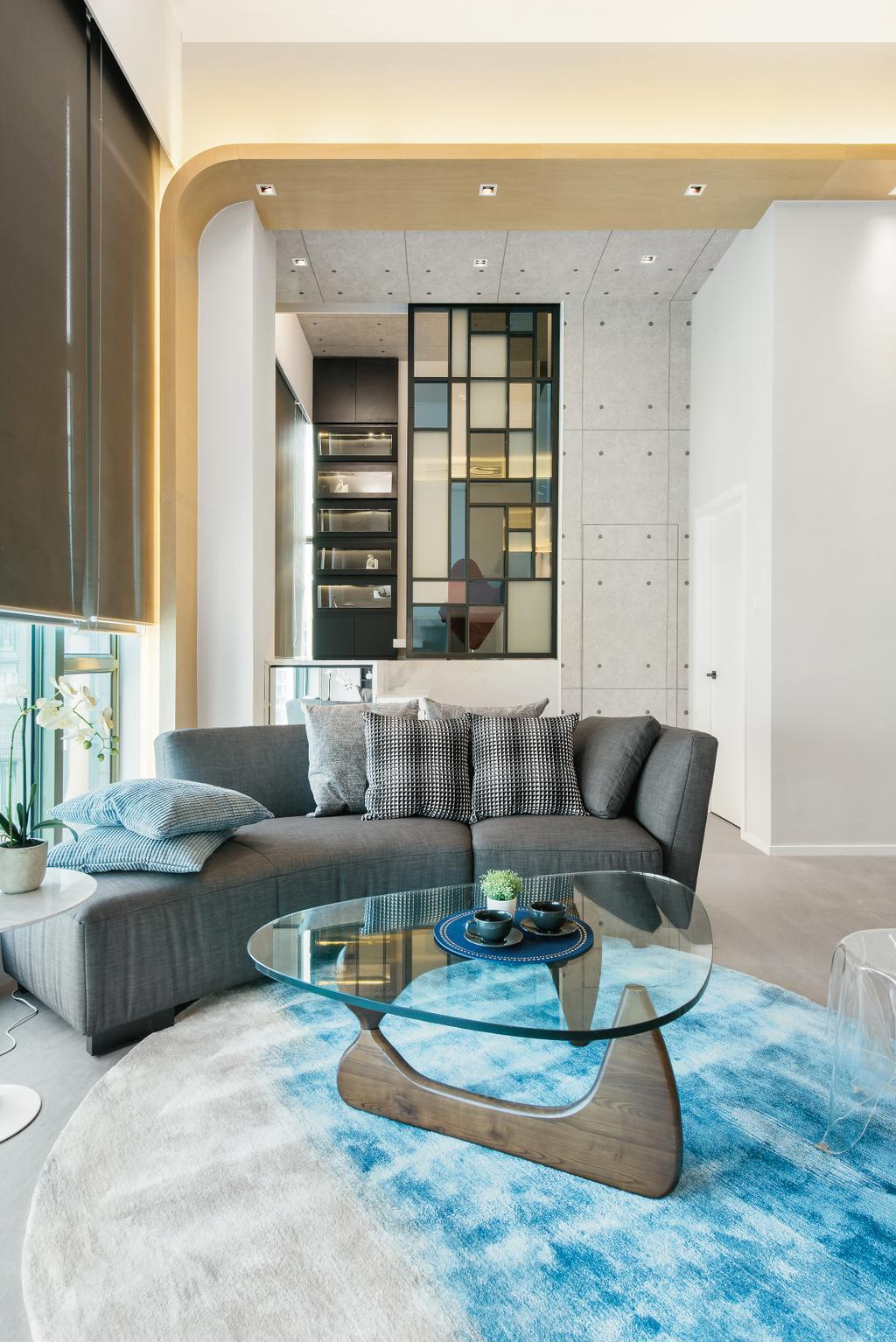 摩登, 私家樓, 九龍西, 室內設計師, 畫斯室內設計, 工業, Couch, Furniture, Indoors, Interior Design, 客廳, Room