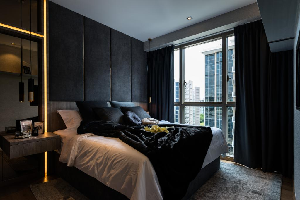 Contemporary, Condo, Bedroom, The Vales, Interior Designer, Mr Shopper Studio, Bed, Furniture, Indoors, Interior Design, Room
