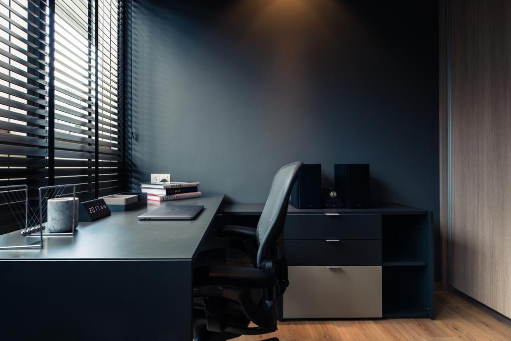 Contemporary, Condo, Study, The Vales, Interior Designer, Mr Shopper Studio, Chair, Furniture, Desk, Table