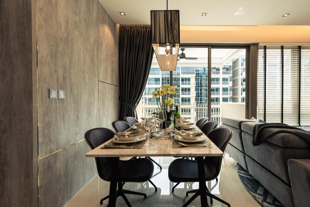 Contemporary, Condo, Dining Room, The Vales, Interior Designer, Mr Shopper Studio, Chair, Furniture