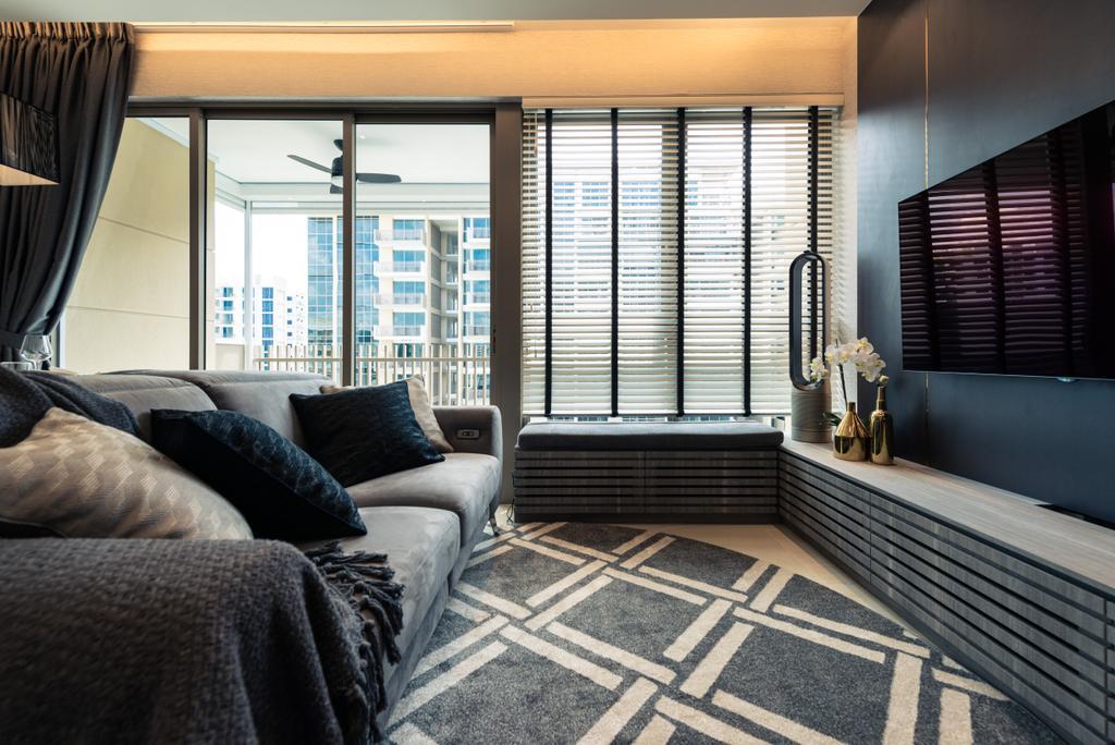 Contemporary, Condo, Living Room, The Vales, Interior Designer, Mr Shopper Studio, Couch, Furniture