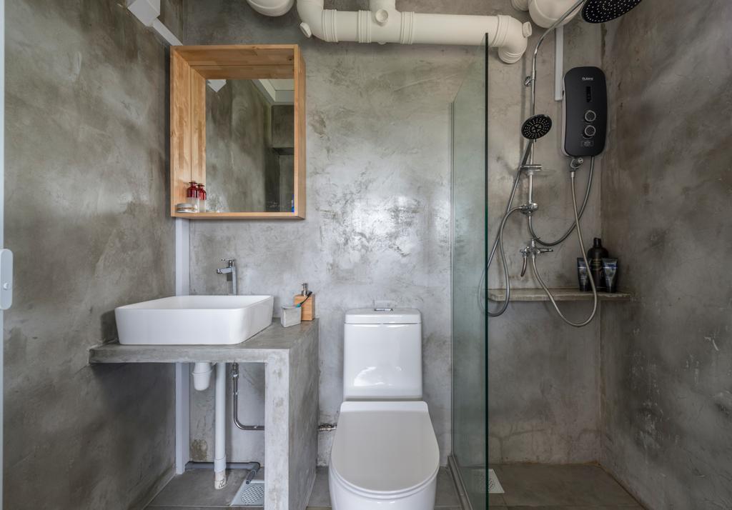 Industrial, HDB, Bathroom, Jalan Tenteram (Block 16), Interior Designer, Butler Interior, Sink, Adapter, Connector, Electrical Device, Plug, Indoors, Interior Design, Room