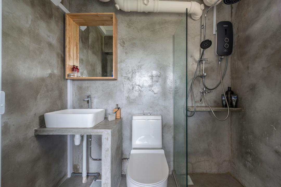 Jalan Tenteram (Block 16), Butler Interior, Industrial, Bathroom, HDB, Sink, Adapter, Connector, Electrical Device, Plug, Indoors, Interior Design, Room
