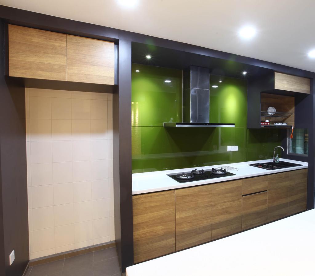 Minimalistic, HDB, Kitchen, Punggol Walk, Interior Designer, KDOT