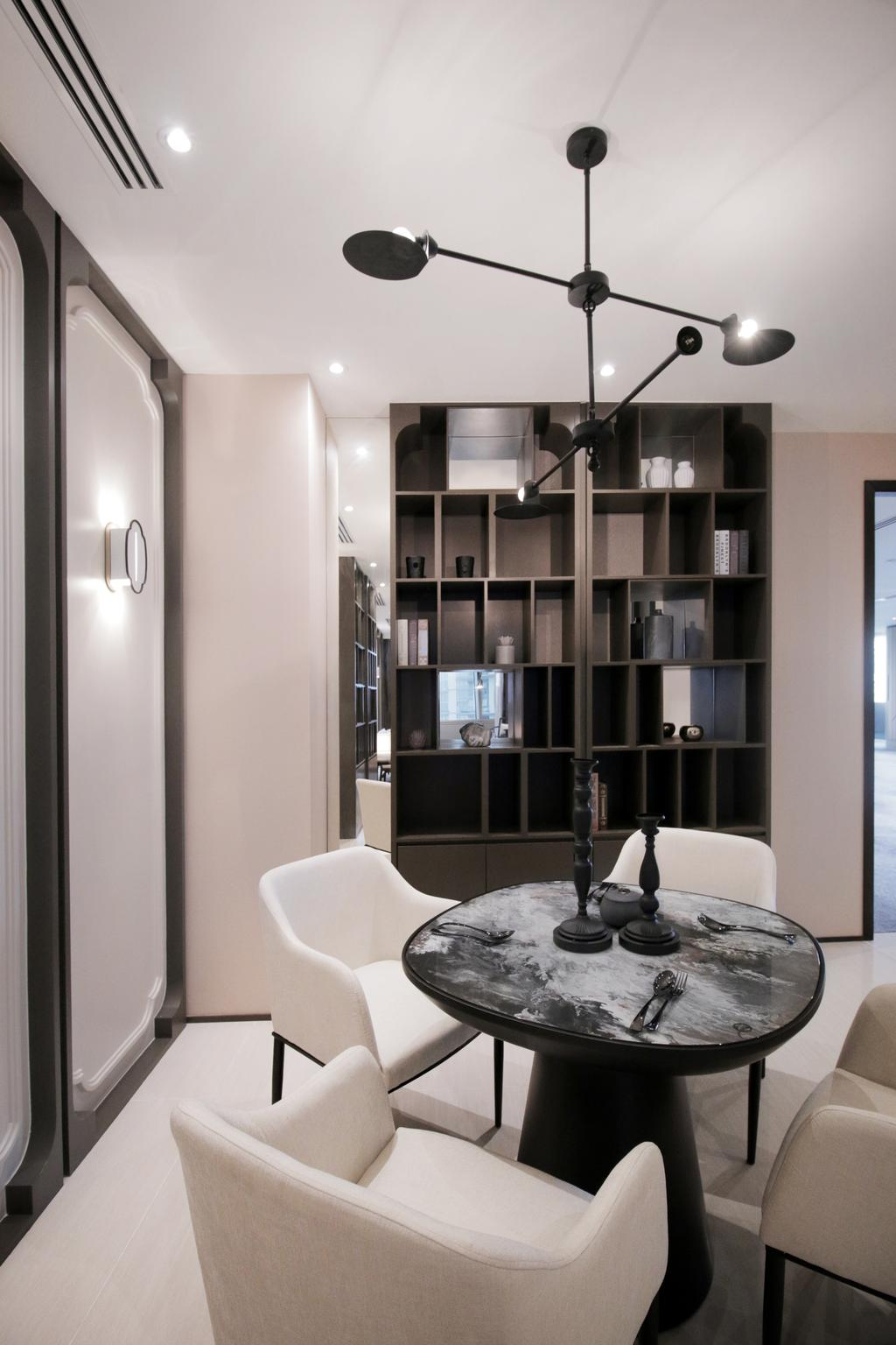 Contemporary, Condo, One Sonor, KLCC, Interior Designer, Metrics Global Sdn Bhd, Chair, Furniture, Electronics, Joystick, Bookcase, Jar, Pottery, Vase