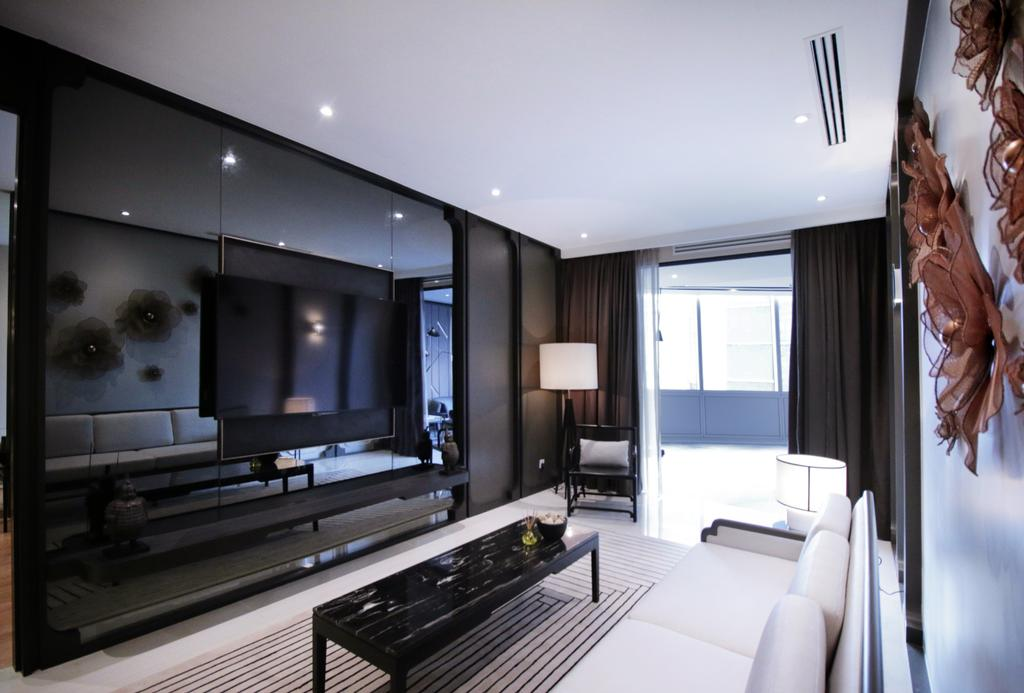 Contemporary, Condo, Living Room, One Sonor, KLCC, Interior Designer, Metrics Global Sdn Bhd, Human, People, Person, Indoors, Interior Design, Electronics, Entertainment Center, Lighting