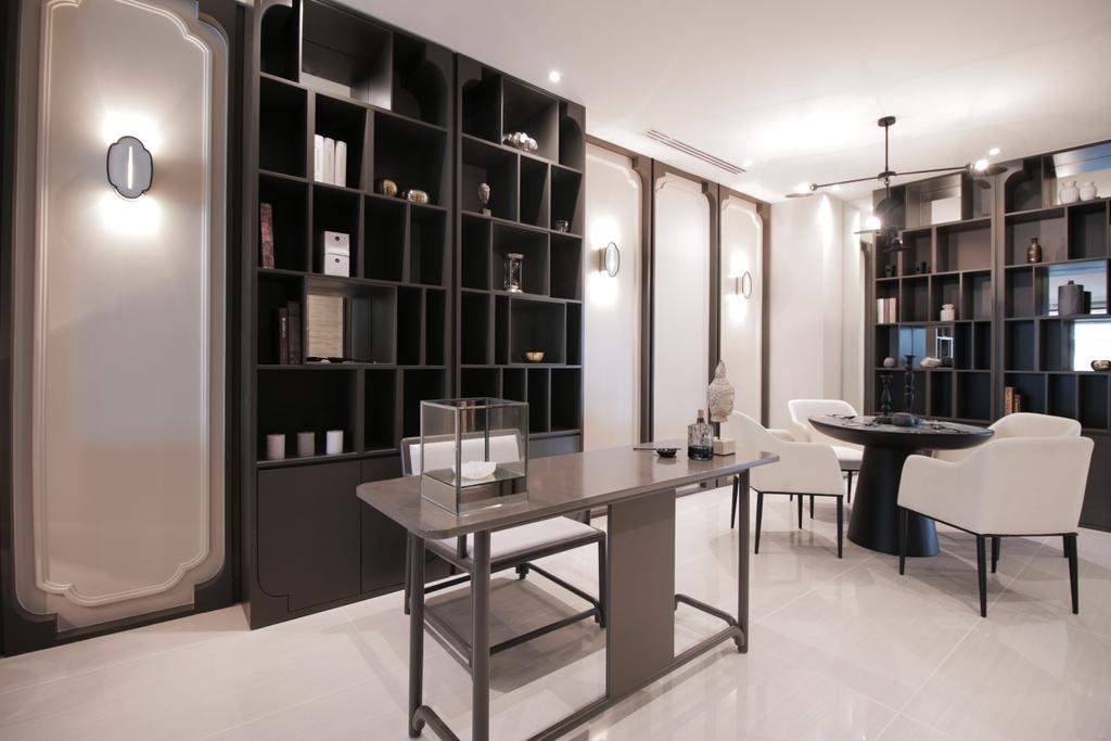 Contemporary, Condo, Study, One Sonor, KLCC, Interior Designer, Metrics Global Sdn Bhd, Dining Table, Furniture, Table, Bookcase, Chair
