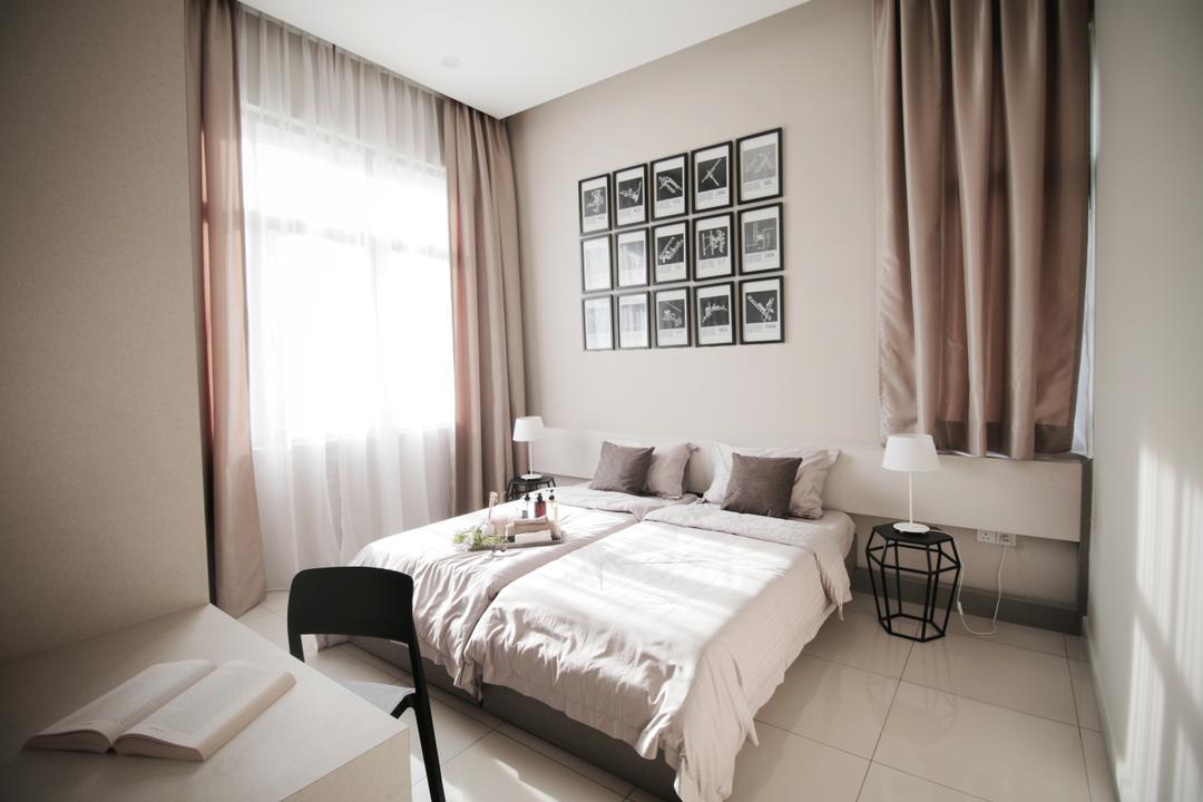 Verge 32@Melawati, Metrics Global Sdn Bhd, Modern, Bedroom, Landed, Indoors, Interior Design, Room, Lamp, Bed, Furniture