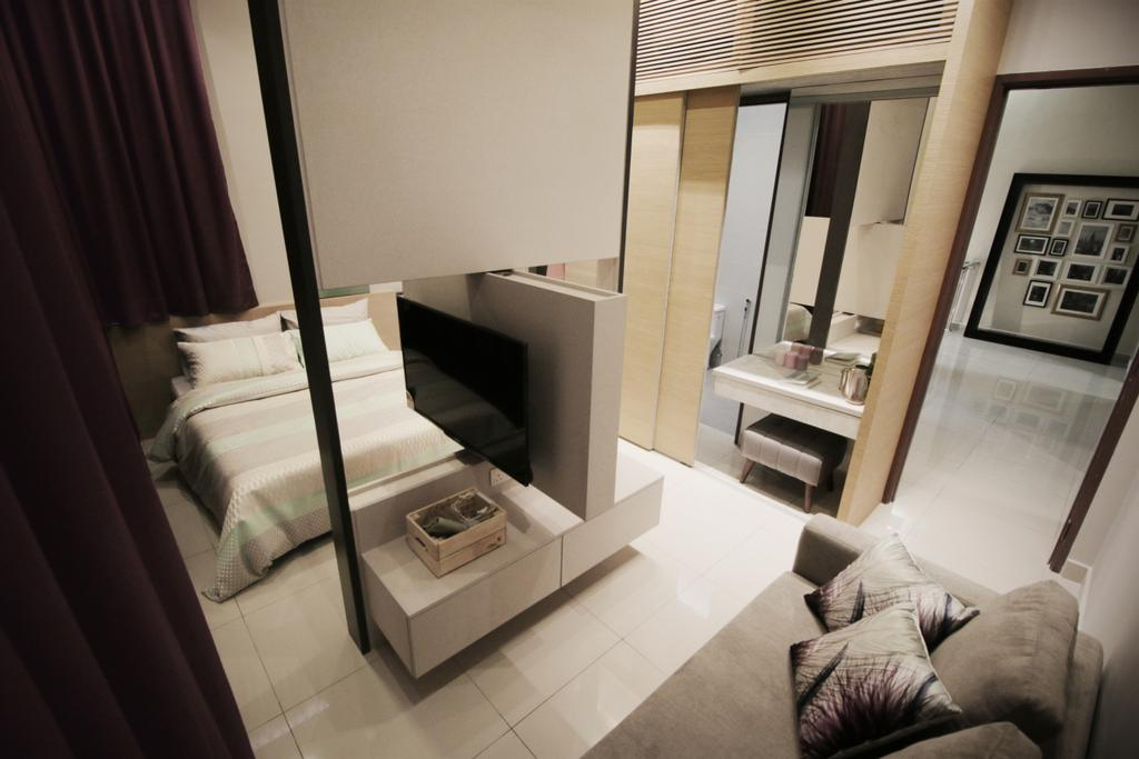 Modern, Landed, Bedroom, Verge 32@Melawati, Interior Designer, Metrics Global Sdn Bhd, Bed, Furniture, Apartment, Building, Housing, Indoors