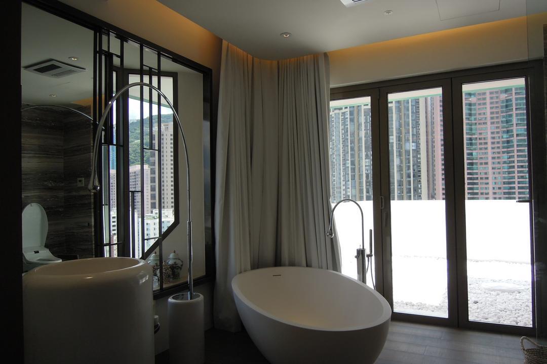 薈萃苑, 駟達建築設計, 當代, 私家樓, Sink, 浴室, Indoors, Interior Design, Room, Bathtub, Tub