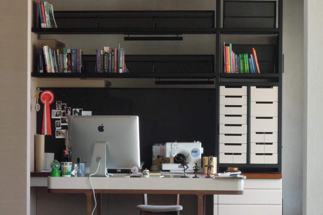 薈萃苑, 駟達建築設計, 當代, 私家樓, Book, Bookcase, Furniture, Desk, Table, Shelf