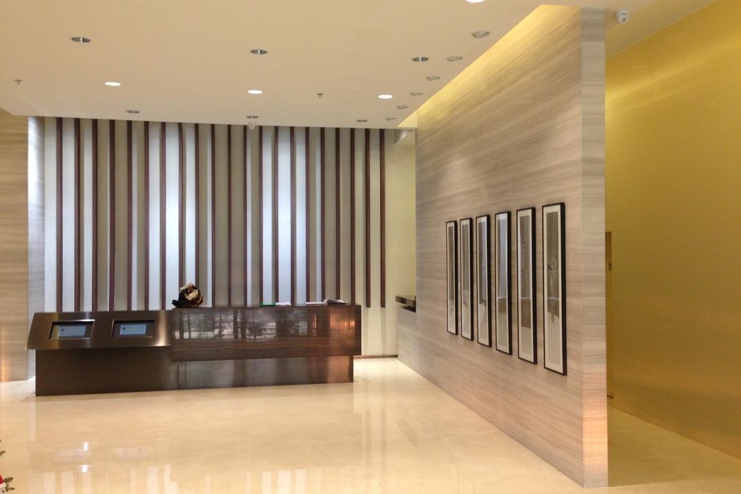 海濱道163號, 駟達建築設計, 當代, 商用, Door, Folding Door, Flooring, Hardwood, Wood, Furniture, Reception, Corridor, Indoors, Interior Design