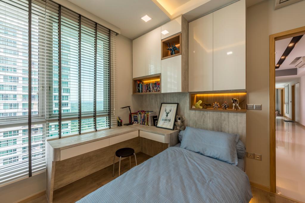 Condo, Bedroom, Tree House, Interior Designer, Flo Design, Indoors, Interior Design, Room