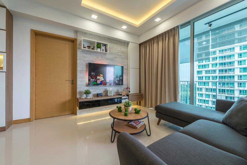 Condo, Living Room, Tree House, Interior Designer, Flo Design, Couch, Furniture, Dining Table, Table, Indoors, Interior Design