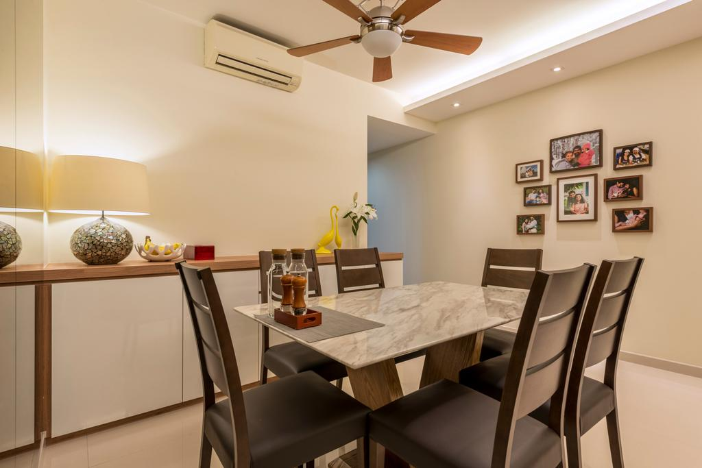 Modern, Condo, Dining Room, Casa Merah, Interior Designer, Mesh Room Design, Contemporary, Chair, Furniture, Indoors, Interior Design, Room, Dining Table, Table