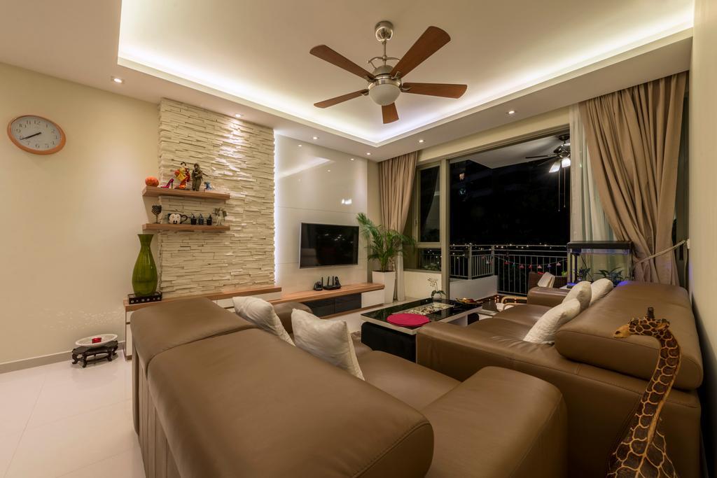 Modern, Condo, Living Room, Casa Merah, Interior Designer, VVID Elements, Contemporary, Couch, Furniture, Bedroom, Indoors, Interior Design, Room