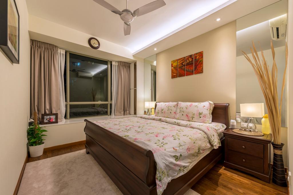 Modern, Condo, Bedroom, Casa Merah, Interior Designer, VVID Elements, Contemporary, Bed, Furniture, Indoors, Interior Design, Room