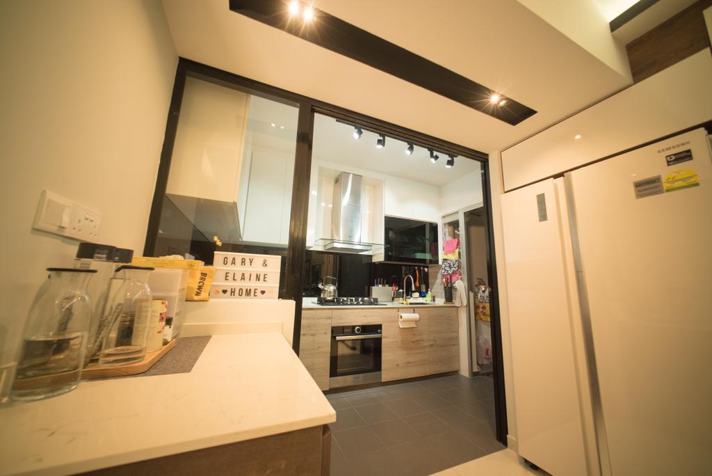 Modern, HDB, Kitchen, Parkview, Interior Designer, Home Access Interior, Building, Housing, Indoors, Dining Room, Interior Design, Room