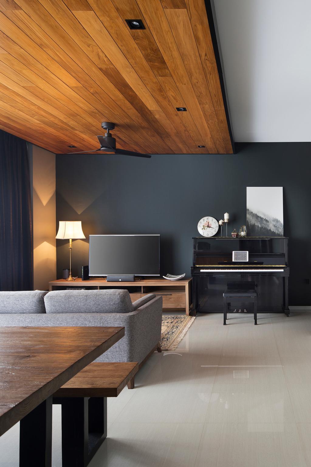 Contemporary, Condo, Living Room, The Amore, Interior Designer, The Scientist, Lamp, Leisure Activities, Music, Musical Instrument, Piano