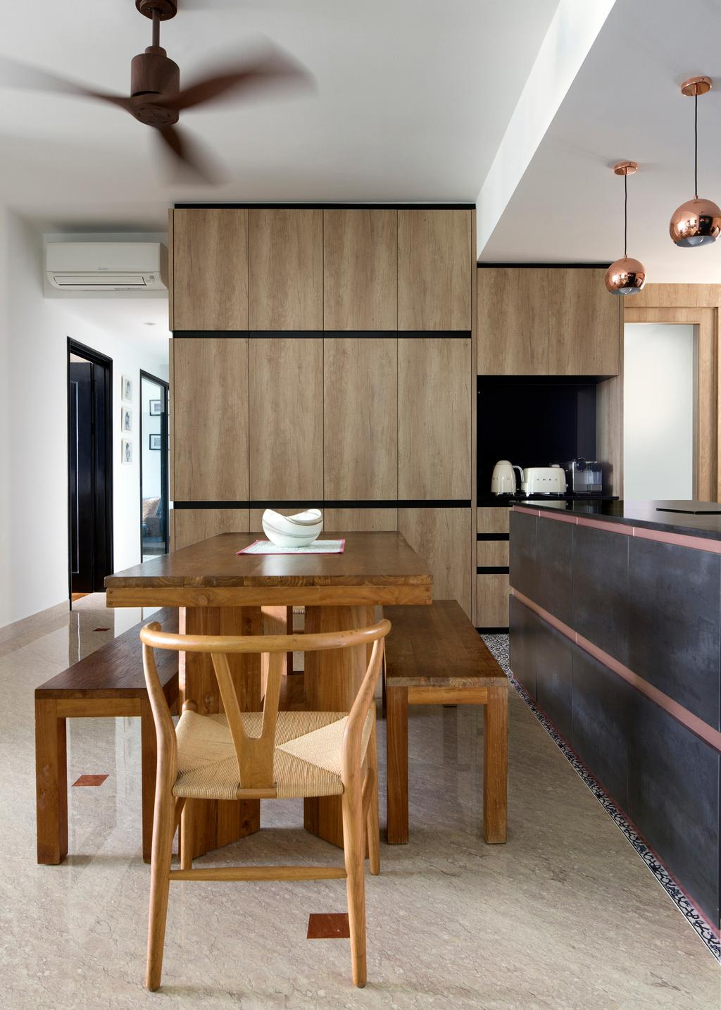 Eclectic, Condo, Dining Room, Spring Grove, Interior Designer, The Scientist, Indoors, Interior Design, Kitchen, Room, Dining Table, Furniture, Table, Chair, Plywood, Wood