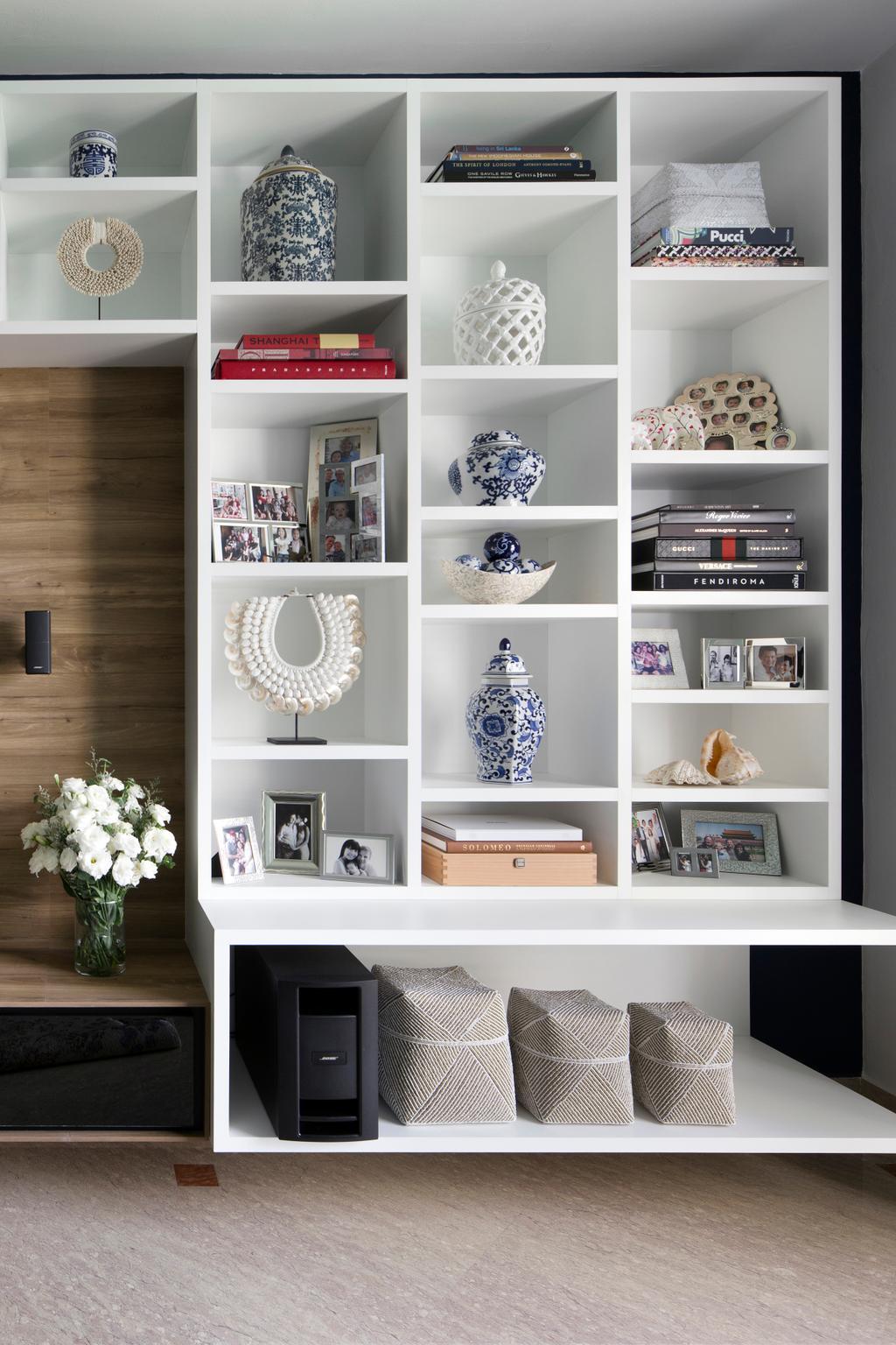 Eclectic, Condo, Living Room, Spring Grove, Interior Designer, The Scientist, Art, Porcelain, Pottery, Bookcase, Furniture