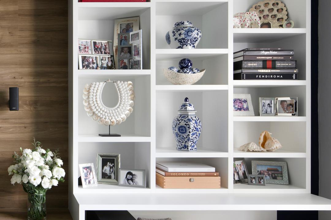 Spring Grove, The Scientist, Eclectic, Living Room, Condo, Art, Porcelain, Pottery, Bookcase, Furniture