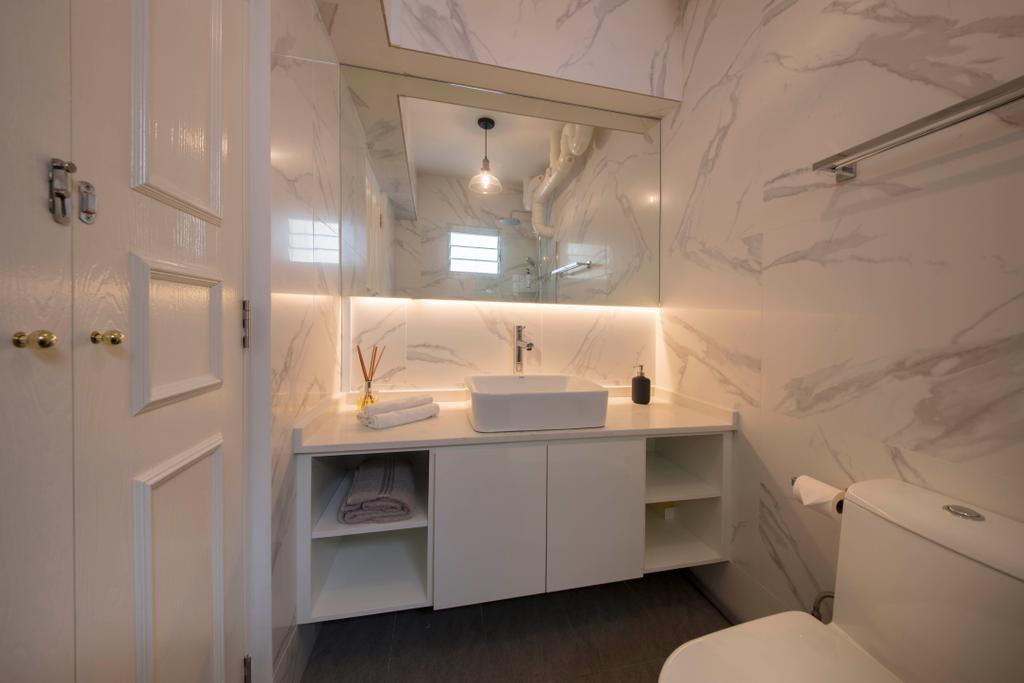 Scandinavian, HDB, Bathroom, Punggol Plains, Interior Designer, Aart Boxx Interior